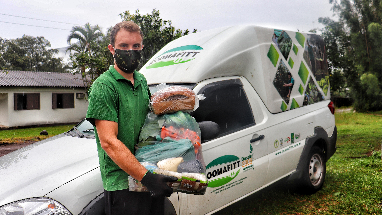 Agricultura Familiar adotou vendas às domicílio em 9 cidades do Litoral Norte do RS. Imagem: Arquivos Coomafitt